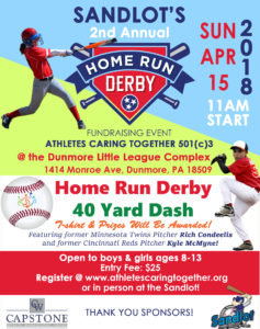 Sandlot's Home Run Derby @ Dunmore Little League Complex | Dunmore | Pennsylvania | United States